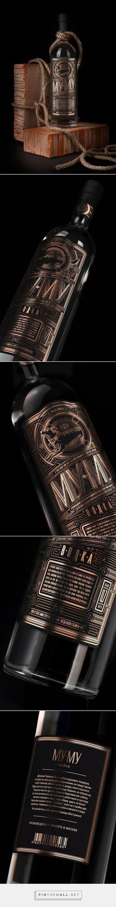 Mumu Vodka packaging concept designed by Denis Kalinin - http://www.packagingoftheworld.com/2015/09/mumu-vodka-concept.html