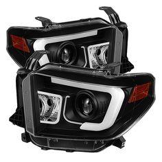 Spyder Auto | Toyota Tundra 2014-2016 Projector Headlights - Light Bar DRL - Black