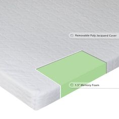 "Sleep Master - Sleeper Sofa Memory Foam Mattress Topper - Twin Wide. Memory Foam support helps to keep shoulders and hips in alignment and offers luxury that helps relieve pressure points, so you get the sleep you need for better health. Twin Wide: 38"" x 72"". 1.5"" of pressure relieving memory foam comfort. Sleep Master exceptionally comfortable 1.5. memory foam Sofa topper for a better night's sleep. Brings instant improved comfort and luxury to your sleeper sofa."