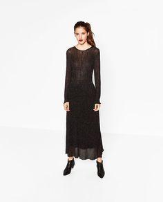 LONG SHINY DRESS-DRESSES-WOMAN | ZARA United States