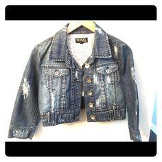 Jean Jacket Sexy Jean Jacket! Size medium XOXO Jackets & Coats Jean Jackets