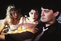 """""""Blue Velvet"""" movie still, 1986.  L to R: Laura Dern, Isabella Rossellini, Kyle MacLachlan."""