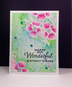 Dogwood stamp: Hero Arts, embossing, watercolor, flower sketch, by beesmom at splitcoast