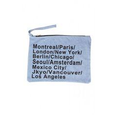 Montreal Paris, Berlin, Shop Now, Mexico, Pouch, London, Cities, Denim, Bags