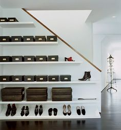 shoe storage - Dressing Rooms : Architectural Digest