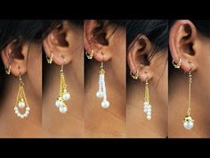 5 easy Pearl Earring Design | DIY | 5 min Craft | Hand made jewelry | Art with Creativity - YouTube