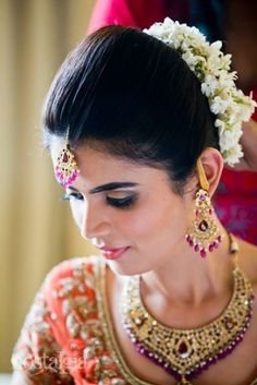 Tremendous Indian Bridal Hairstyles Indian Bridal And Bridal Hairstyles On Hairstyles For Women Draintrainus