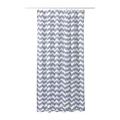 IKEA - SOMMAR 2016, Shower curtain, Densely-woven polyester fabric with water-repellent coating.The elastic sewn into the bottom edge adds weight to the curtain and assures that it hangs straight.