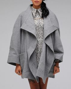 Coco Coat In Charcoal