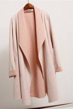 Pink Draped Suede Jacket