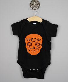 Loving this Black & Orange Skull Bodysuit - Infant on #zulily! #zulilyfinds