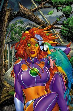 bear1na:  Starfire #2, Harley Quinn and Power Girl #2, Harley Quinn #18, and Section 8 #2 - Green Lantern by Amanda Conner *