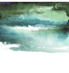 green watercolor blue background vector