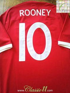5c16c6e1a 2010 11 England Away Football Shirt Rooney  10 (M)