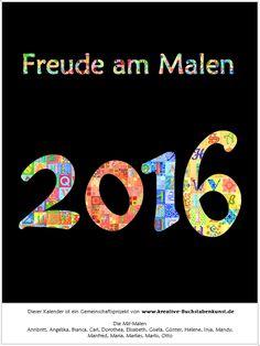 Gruppenprojekt Kalender 2016 - Titelblatt