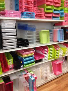 "Daiso Richmond - the Japanese ""Nothing Over $2 Store"". Plastic containers of all sorts and sizes"