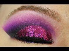 Beautiful purple eye shadow tutorial.