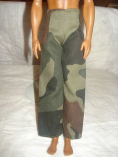 Handmade camoflage pants for Ken Dolls - KDC11