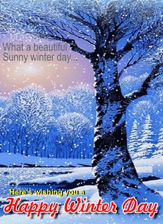 Via GIPHY Facebook Birthday Cards Winter Day Animated Gif Timeline Ecards