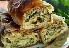Kako se pravi pita zeljanica ~ Recepti i Savjeti Pizza Pastry, Savory Pastry, Bosnian Recipes, Croatian Recipes, Pastry Recipes, Cooking Recipes, Bread Recipes, Filo Recipe, New Recipes