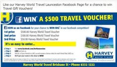 Win 1 of 3 Harvey World Travel Vouchers