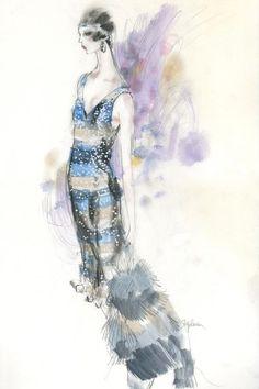 #GreatGatsby costume sketch by Steven Stipelman for Miuccia Prada.