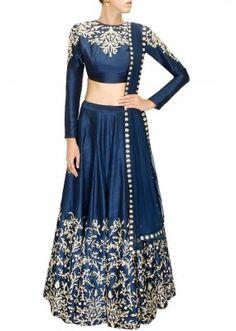 Bollywood Replica - Navratri Special Navy Blue Lehnega Choli - S223