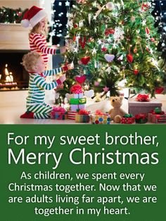 Brother and Sister-in-Law Christmas Card Brother Christmas Card Christmas Gift Card Christmas Card For Couple Christmas Gifts Traditional Christmas