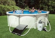 NEW FOR 2015 GAME 4721 SolarPRO Curve Solar Pool Heater for Intex & Bestway Above Ground and in Ground Pools (Includes Intex Adapters)