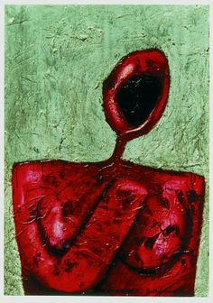 Untitled by Bahman Mohasses. Expressionism. figurative