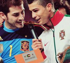 Cristiano Ronaldo and Iker Casillas! God bless soccer players ⚽ www.footballvideopicture.com