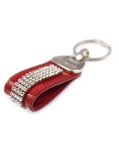 Cango & Rinaldi Prívesok na kľúče červený, Swarovski elements