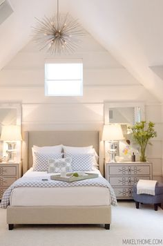 A Visit to the 2015 HGTV Smart Home in Austin, Texas---- light colors in bedroom Dream Bedroom, Home Bedroom, Master Bedroom, Bedroom Decor, Bedroom Rustic, Bedroom Wardrobe, Coastal Bedrooms, Guest Bedrooms, Girl Bedrooms
