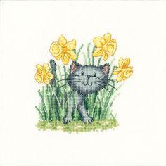 Your Cat   Spring cat cross-stitch   Cat Craft