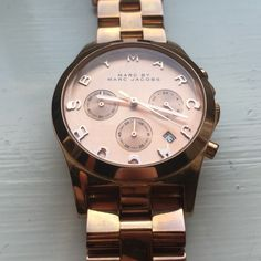 Marc by Marc Jacobs Rose gold watch Rose gold Marc by Marc Jacobs watch! Good condition, very slight wear (hard to see) and needs battery, reflected in the price.   37mm face. Classic piece. Marc by Marc Jacobs Accessories Watches
