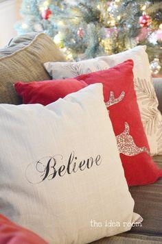 DIY Believe Pillow