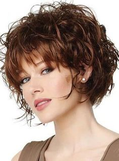 Top Quality Fashionable Short Curly Human Hair Capless Wig 8 Inches #wigs…