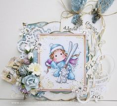 Into my happy space: In The Snow Ski Tilda - DT card for Tilda's Town