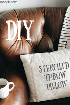 Diy Stenciled Throw Pillow Dont