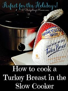 With the holidays approaching here is a great alternative to making your turkey in the oven you can cook it in your crockpot! Here is some simple tips and directions on How to cook a Turkey Breast in the Slow Cooker. recipes for slow cooker Crock Pot Food, Crockpot Dishes, Crock Pot Slow Cooker, Slow Cooker Recipes, Crockpot Recipes, Turkey Crockpot, Slow Cooker Turkey, Crock Pots, Turkey In Crock Pot