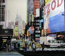NYC. Times Square. Nice watercolor painting.