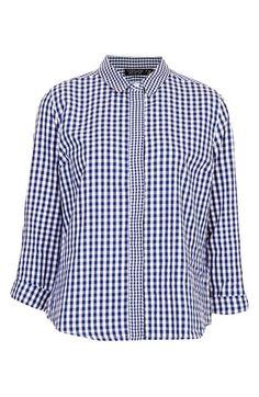 gingham print shirt / topshop