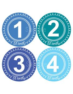 So cute!!!!!   Set of 12 Month 2 Month Baby Swirl Boy Collection Monthly Iron Ons