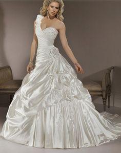 ON SALE! One Shoulder Ivory Best Bridal Wedding Dress