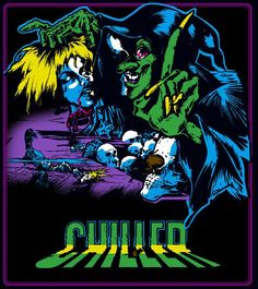 Chiller Arcade Video Game (Exidy 1986) Vintage Video Games, Rough Cut, Art Reproductions, Arcade, Decals, Fantasy, Digital, Movie Posters, Tags