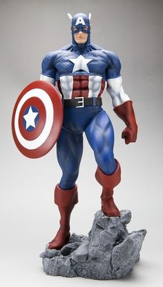 Captain America Statue front view