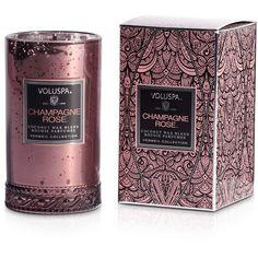Voluspa Champagne Rose 5.25oz Petite Maison Glass Candle found on Polyvore