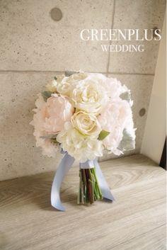 ハワイウェディングの花嫁様へ♡芍薬ローズブーケ の画像|アートフラワーウェディング greenplus