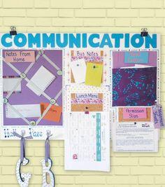 Classroom Organization Ideas -- Communication Center | Student Center | DIY Classroom Memo Board by @joannstores