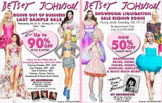 Haute on the Spot: Style: Betsey Johnson Apparel & Liquidation Sales at Her NYC Showroom THIS WEEK